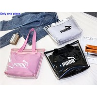 PUMA hot fashion lady transparent two-piece set with b/l shoulder bag