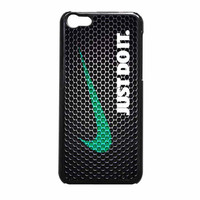 Nike Just Do It Wood Colored Darkwood Wooden iPhone 5c Case