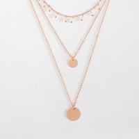 Bead & Disc Layered Short-Strand Necklace - Aeropostale