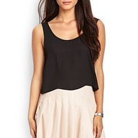 LOVE 21 Faux Leather Pleated Skirt Blush