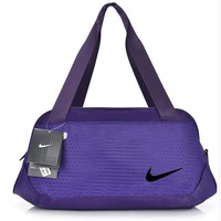 Nike Pattern Casual Travel Bag Handbag The Single Shoulder Bag Purple