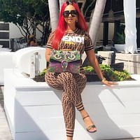 Fendi Summer Fashion New More F Letter Sports Leisure Top And Pants Two Piece Suit Women Coffee