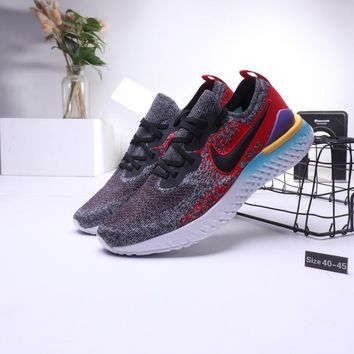 """Nike"" Men Casual Fashion Multicolor Flyknit Breathable Running Shoes Sneakers"