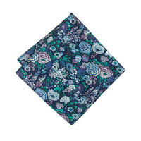 J.Crew Mens English Cotton Pocket Square In Liberty Multi Violet