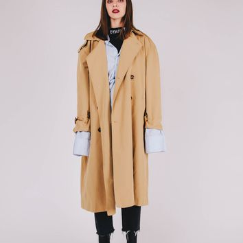 Oversized Maxi Trench Coat