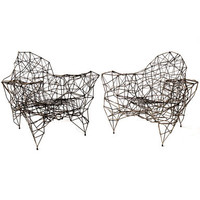 Pair of Steel and Wire Chairs