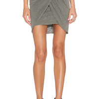 Stateside Draped Mini Skirt in Fern
