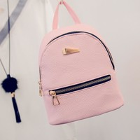 Women Lady Fashion Faux Leather Mini Backpack Girls Travel School Rucksack Bag Zaino Mochila Rugzak For Party
