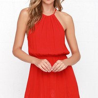 Spice Up Your Life Red Lace Dress