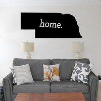 Nebraska Home Decal - Home Decor - Car Decal - USA - America - Indoor - Outdoor - Cottage - Perfect Gift - High Quality Vinyl Graphic