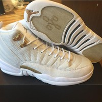 2017 Air Jordan 12 Retro XII OVO White Basketball Shoes Sports Sneakers