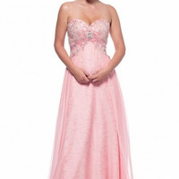 Kari Chang KC14 Pink Lace A-line Prom Dress