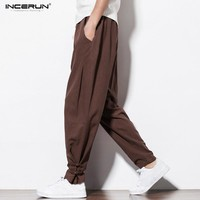Incerun Chinese Style Harem Casual Men's Sweatpants