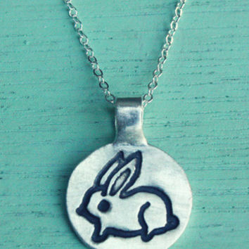 Little Silver Bunny Necklace
