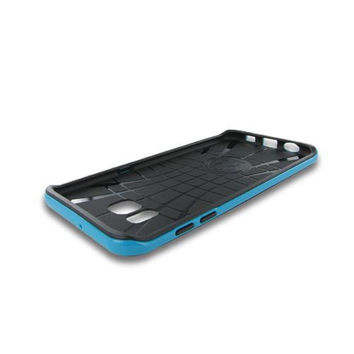 Samsung Galaxy S6 Edge Plus Bumper Hybrid Case Black TPU Blue
