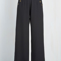Nautical Wide Leg Every Opportunity Pants in Black