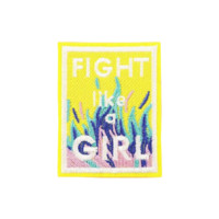 FIGHT LIKE A GIRL Iron on Patch