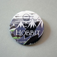 """The Hobbit - Vintage book cover 1x1.5"""" pinback button back from Stickerama"""