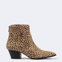 Leopard Pointed Toe Bootie