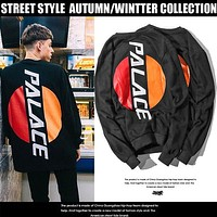 New Arrival Burger Robe Cotton Material Thin Round Collar Palace Hoodies Sweatshirt Mens Palace Skateboards Hoodie Tops Plus Size 2XL
