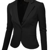 J.TOMSON Womens Tailored Boyfriend Blazer BLACK LARGE
