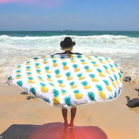 Beach Shawl Wrap Pineapple Dress Mat [6420302340]