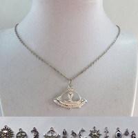 """21"""" Charm necklaces metal chain necklaces 21 inches long with your choice of charm many to choose from"""