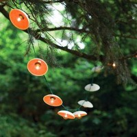 Disc String Lights in Citrus by PigeonToeCeramics