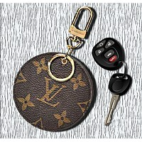 LV Louis Vuitton Circular Small Bag Leather Key Pouch Car Key Wallet