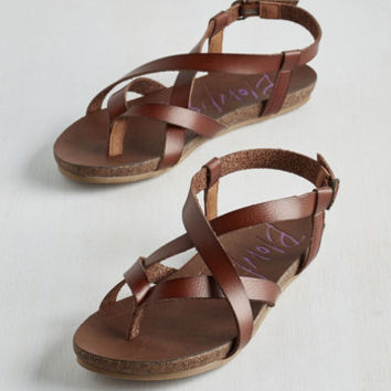 ModCloth Boho Everyday Nonchalance Sandal in Brown
