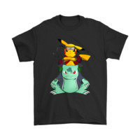Pokemon Pikachu And Bulbasaur Mashup Naruto Jiraiya Shirts