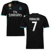 Ronaldo Real Madrid Youth Black 2017/18 Away Replica Patch Jersey