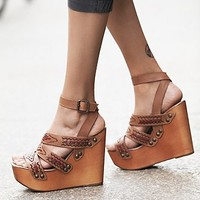 Jeffrey Campbell + Free People Womens Cactus Mountain Platform