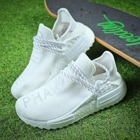 Pharrell Williams x ADIDAS Originals NMD Human Race HU Tripl White Running Shoes - Best Online Sale