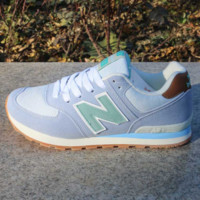 Women Men Casual Running NEW BALANCE Sport Shoes Sneakers Green gray