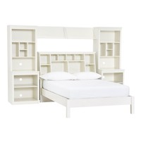 Stuff-Your-Stuff Classic Bed System (Bed, Towers, Shelves + Desk)