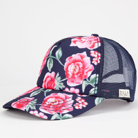 Billabong Bloom On Womens Trucker Hat Navy One Size For Women 24803621001