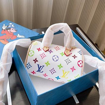 Hipgirls Louis Vuitton LV Women's Color Printed Lettering Shopping Tote