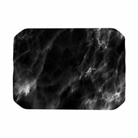 "Chelsea Victoria ""Black Marble"" Modern White Place Mat"