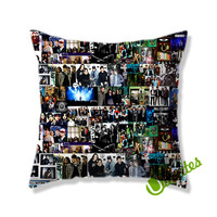 Fall Out Boy Collage Square Pillow Cover