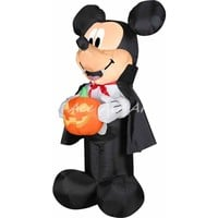 inflatable halloween mouse cartoon hold a pumpkin used for outdoor or indoor decoration