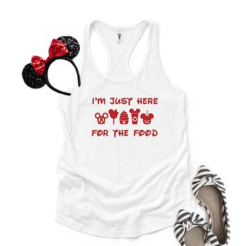 I'm Just Here for the Food - Disney Christmas | Racerback Tank