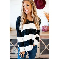 Hadley Striped Sweater (Black)