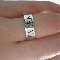 Engagement Ring, Sterling Silver ring, TAKEN,  Personalized ring, mens gifts, mens ring, womens ring, wedding band, made to your size