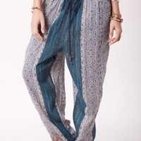 BLUE SALOON HAREM PANTS