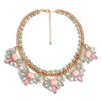 Fashion Stylish Classy Best Gift for Lovers Birthday Anniversary Valentines Christmas  Floral  Necklace Collarbone Chain _ 8599