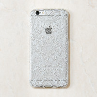 Clear White Mandala Boho Indian iPhone 6 Plus Case