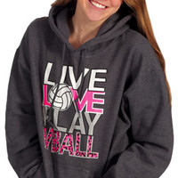 Midwest Volleyball Warehouse - Live Love Play Hoodie
