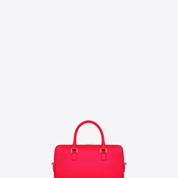 Classic Baby Duffle Bag in Neon Pink Leather