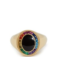 Rainbow Candy 18kt gold & sapphire signet ring   Jessica Biales   MATCHESFASHION.COM US